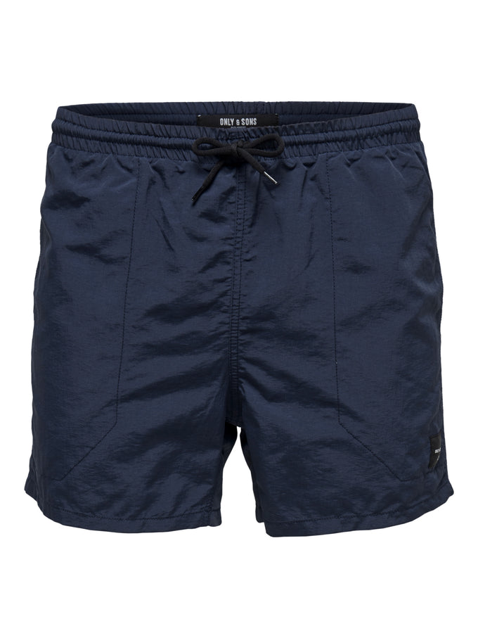 BASIC LOGO SWIM SHORTS Dress Blues