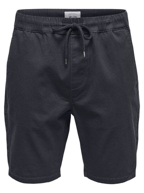 CHINO SHORTS WITH AN ELASTIC WAISTBAND