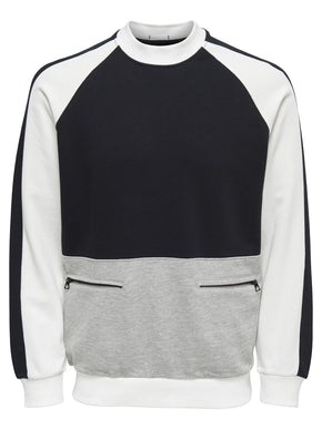 HIGH-NECK SWEATSHIRT WITH POCKETS