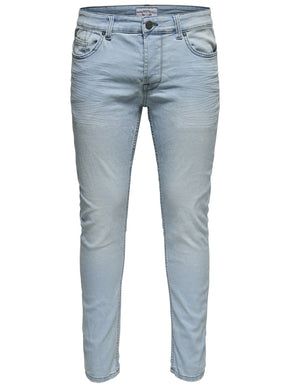 SKINNY FIT LIGHT BLUE JEANS