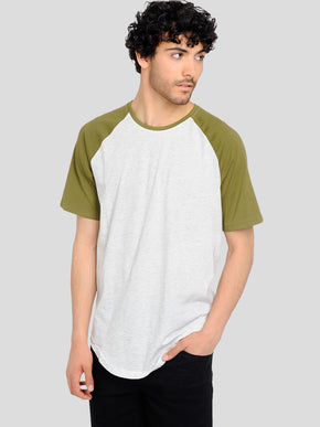 BASEBALL STYLE LONG FIT T-SHIRT