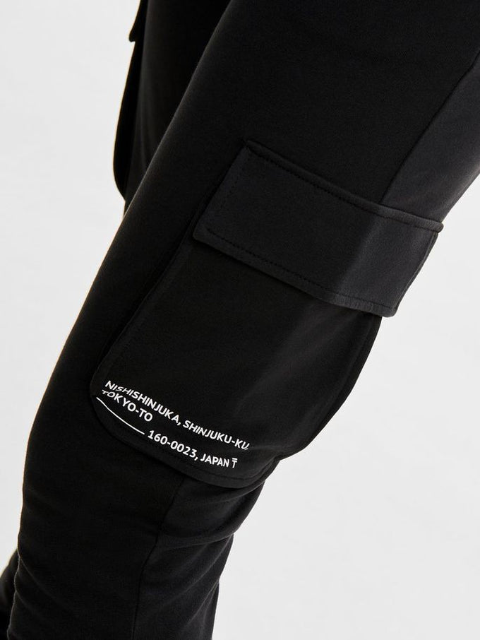 SWEATPANTS WITH MILITARY DETAILS Black