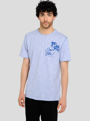 SONS BLUE HIGH-LOW T-SHIRT