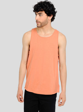 LONG FIT TONE-ON-TONE TANK TOP