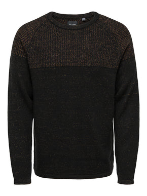 PEER PLATED CREW NECK KNIT