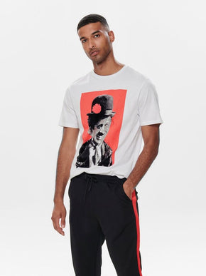 COLOURFUL CELEBRITY PRINT T-SHIRT