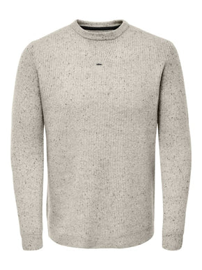 PATRICK WOOL-BLEND SPECKLED KNIT