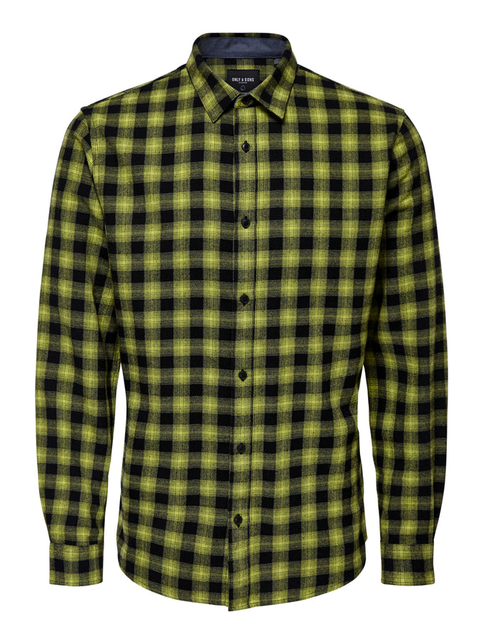 EMIL SLIM FIT FLANNEL SHIRT Lime Green