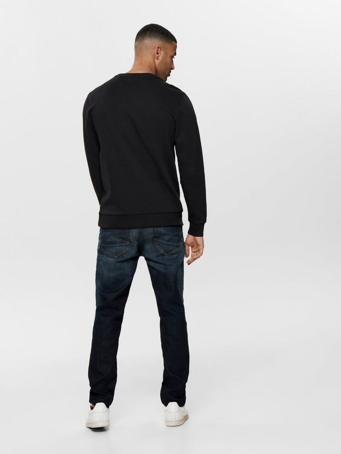 TAU CREWNECK Black