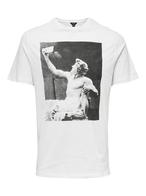 BLACK AND WHITE PHOTO PRINT T-SHIRT