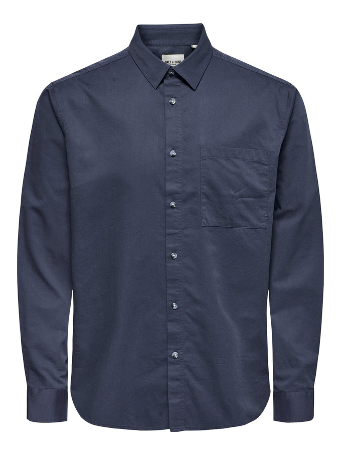 MICHAEL TENCEL SHIRT Dress Blues