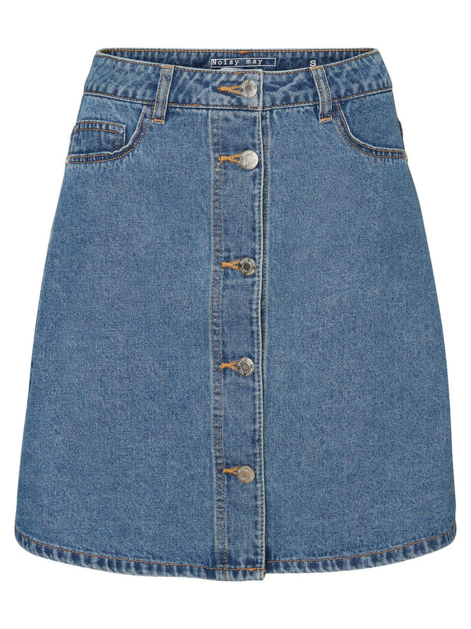 A-LINE DENIM SKIRT Medium Blue Denim
