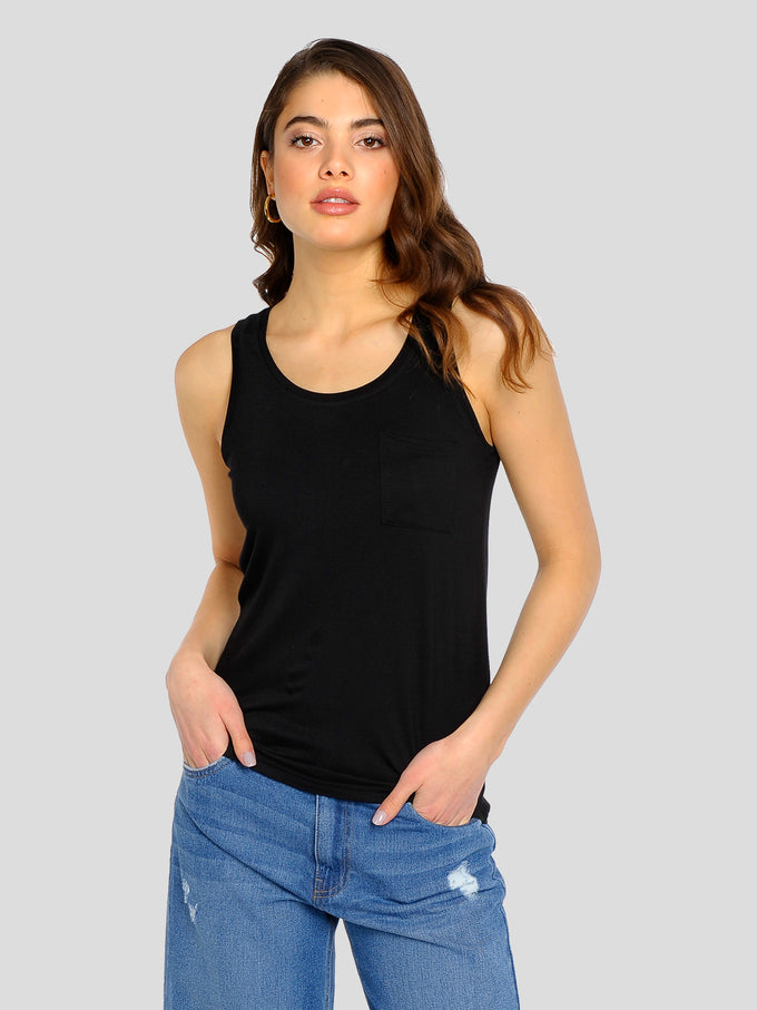 Harry Tank Top With Pocket Black