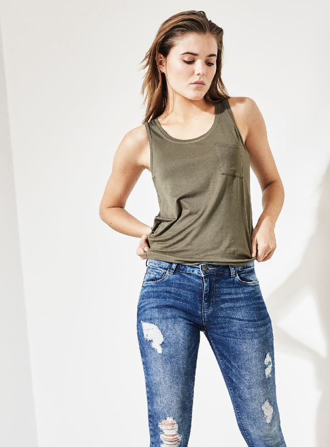 TANK TOP WITH POCKET Ivy Green