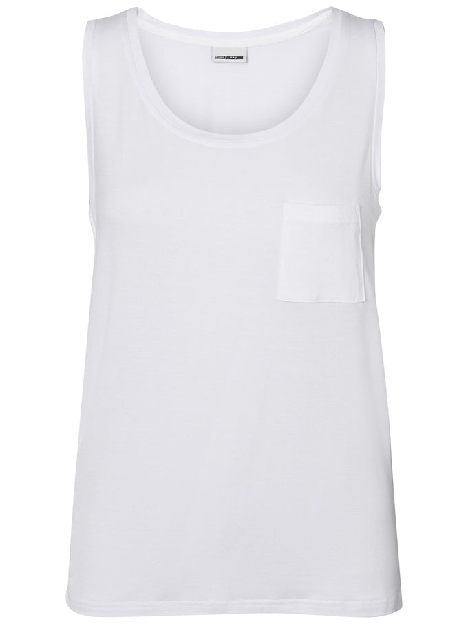 Harry Tank Top With Pocket Bright White