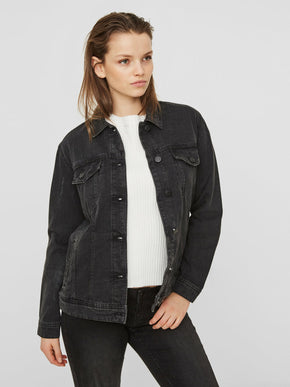 WASHED BLACK DENIM JACKET