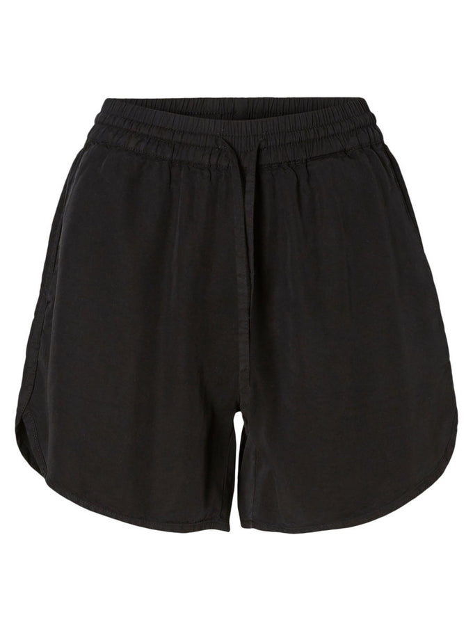 BLACK LYOCELL SHORTS Black