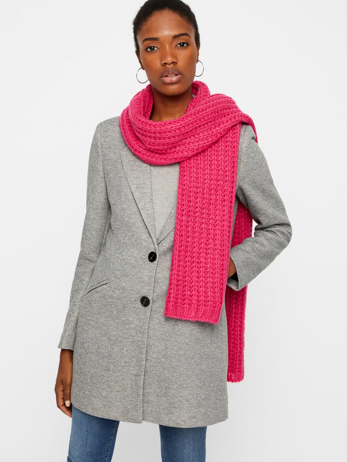 CHUNKY COLOURFUL SCARF Beetroot Purple