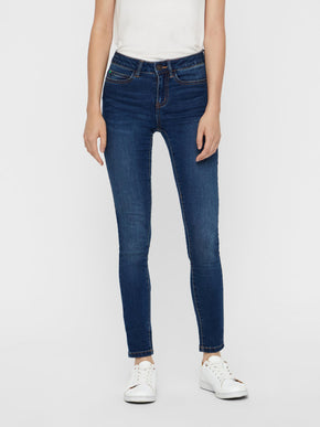 NMLUCY COFFEE SLIM FIT DARK BLUE JEANS