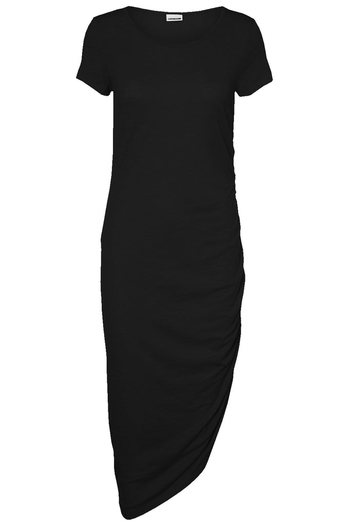 MAXI DRESS WITH AN ELASTIC DETAIL Black