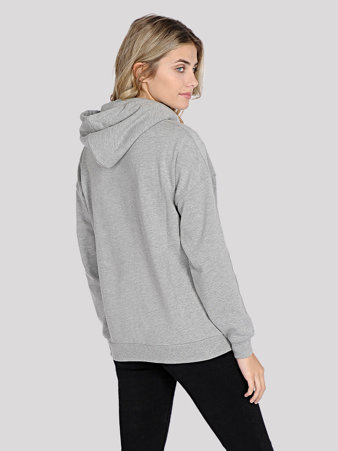 OFFICIAL NOISY MAY HOODIE Light Grey Melange