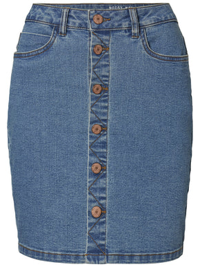 DENIM SKIRT WITH BUTTON CLOSURE