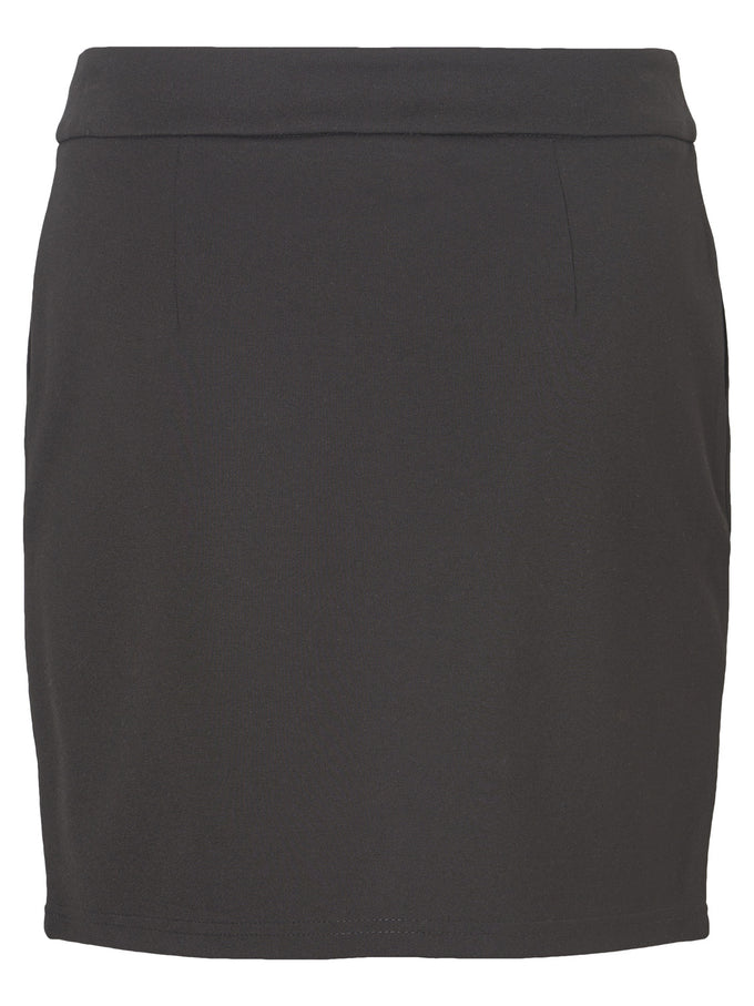 SHORT JERSEY SKIRT WITH ZIPPER CLOSURE Black