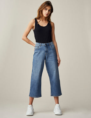 NMPAIGE LOOSE FIT CROPPED JEANS