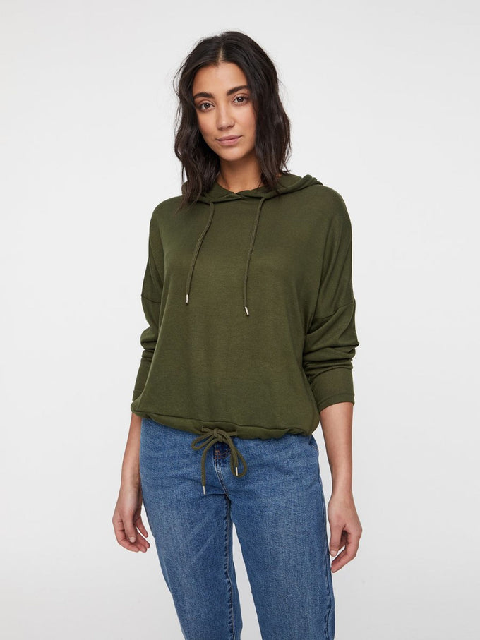 SUPER SOFT KNIT HOODIE Olive Night