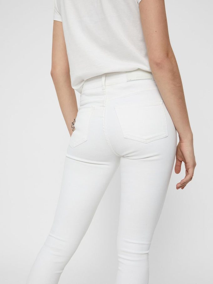NMLUCY SKINNY FIT WHITE JEANS Bright White