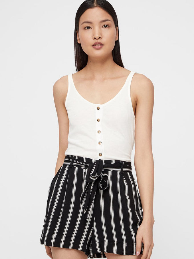 FLUID STRIPED SHORTS Black