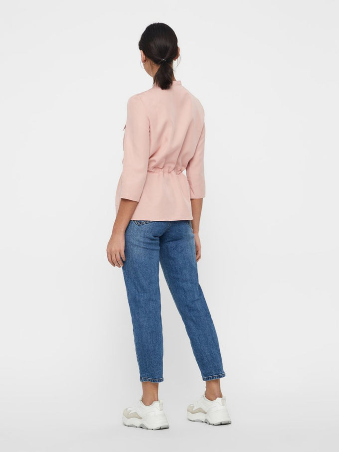 LYOCELL BLOUSE WITH ZIPPER DETAIL Mellow Rose