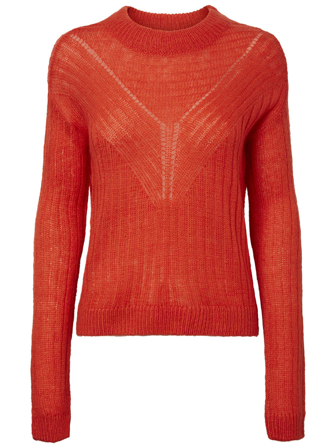LIGHT COLOURFUL SWEATER Fiery Red