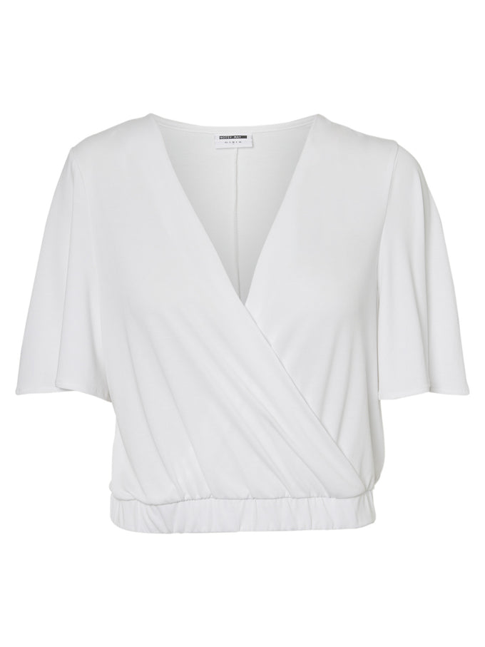 MODAL-BLEND CROPPED TOP Bright White
