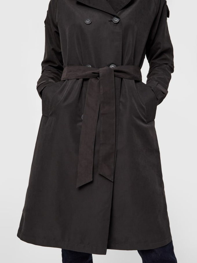 Belted Trench Coat Black