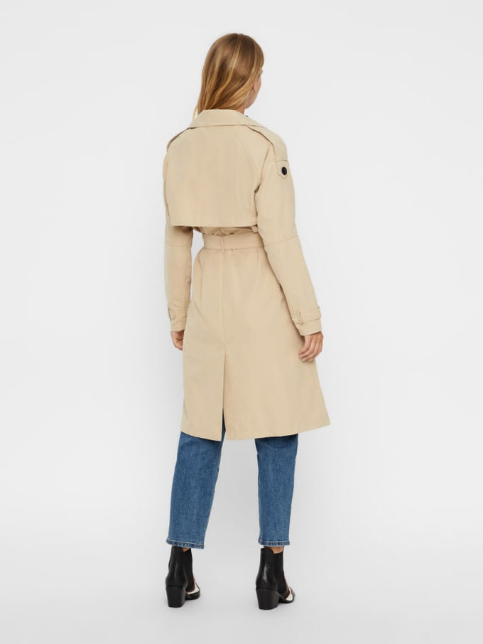Belted Trench Coat White Pepper