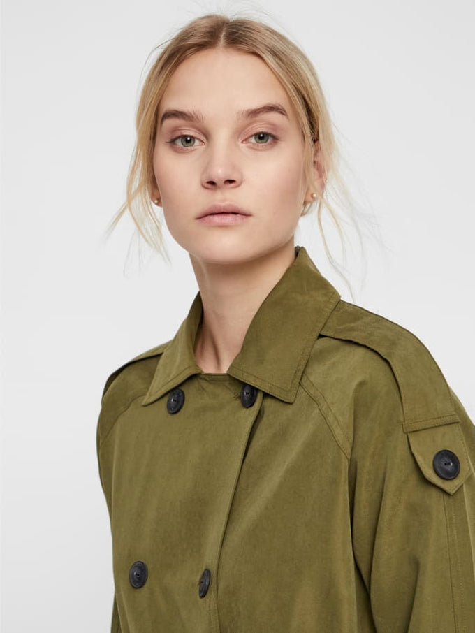 Belted Trench Coat Winter Moss