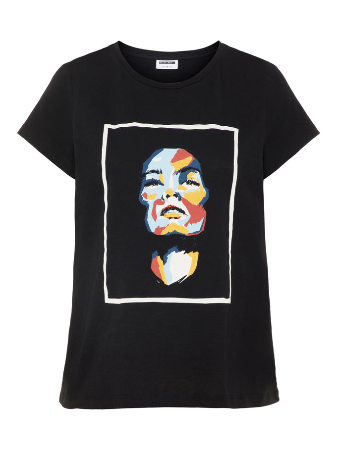 ORGANIC-COTTON PRINTED T-SHIRT Black