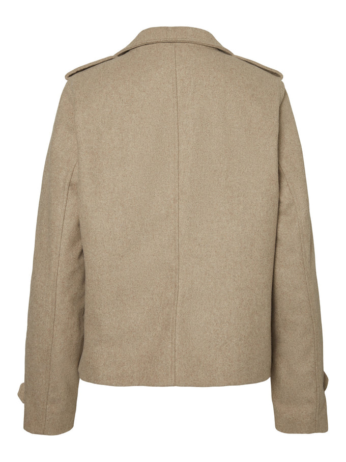 Wool Moto Jacket White Pepper