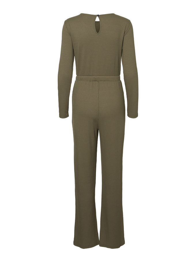 LONG SLEEVE RIBBED JUMPSUIT Kalamata