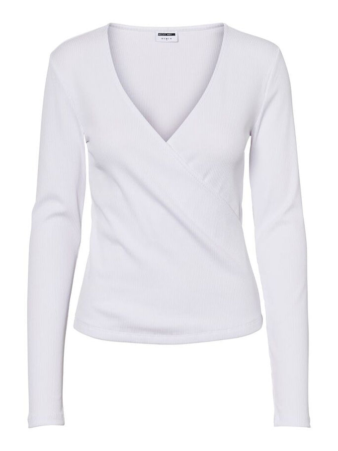 V-NECK TOP Bright White