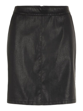 KELLY SHORT FAUX-LEATHER SKIRT