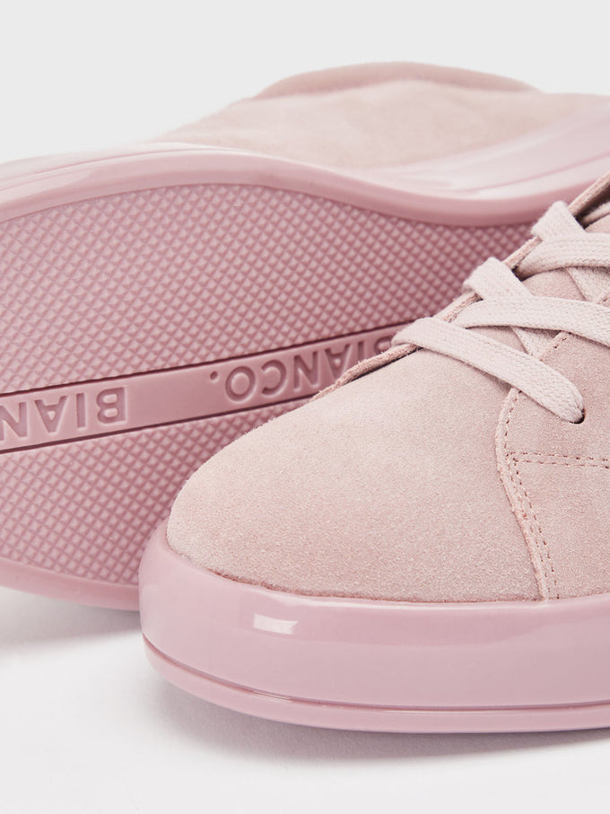 GENUINE SUEDE SNEAKERS Light Pink