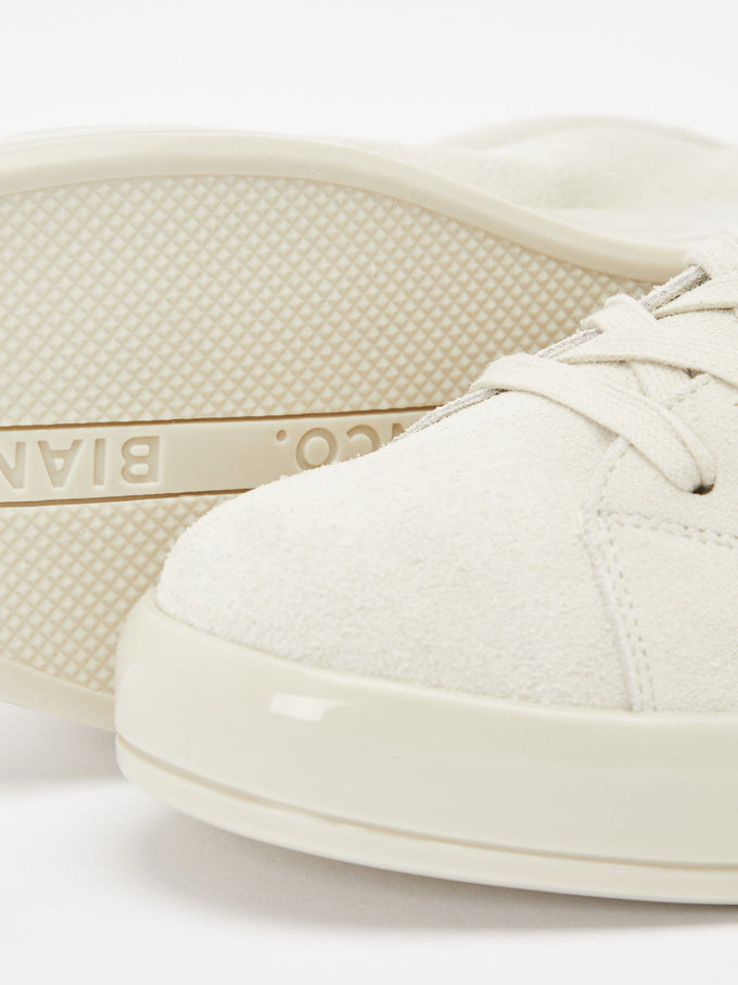 GENUINE SUEDE SNEAKERS Natural