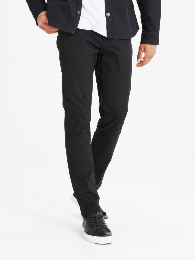 BLACK MARCO FIT CHINO PANTS Black