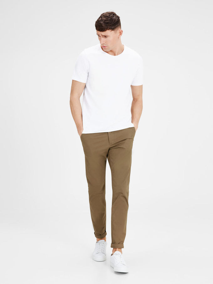 TAN MARCO FIT CHINO PANTS Tan
