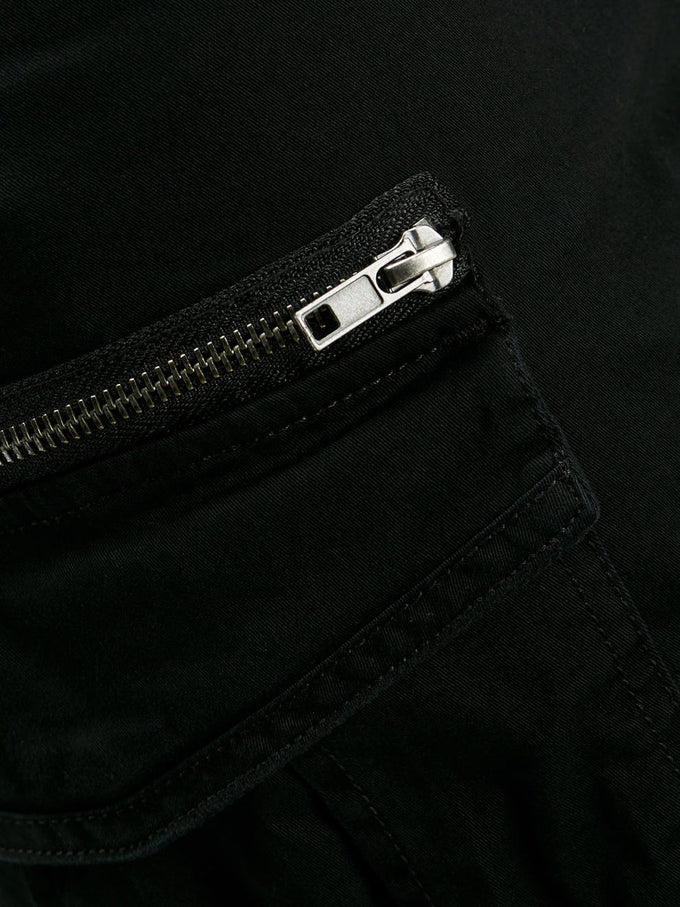 JOGGER STYLE CARGO PANTS Black