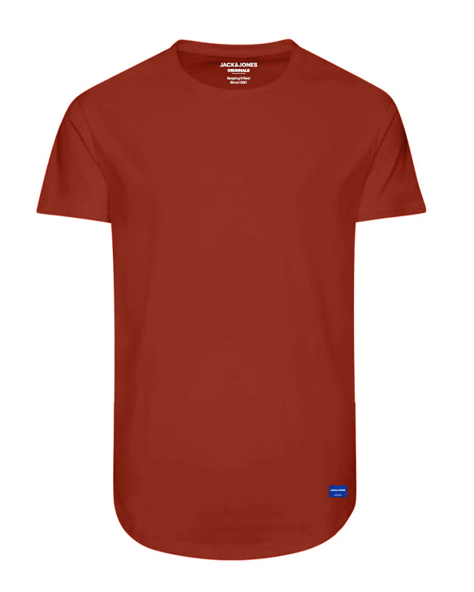 NOA LONG FIT CURVED T-SHIRT Chili
