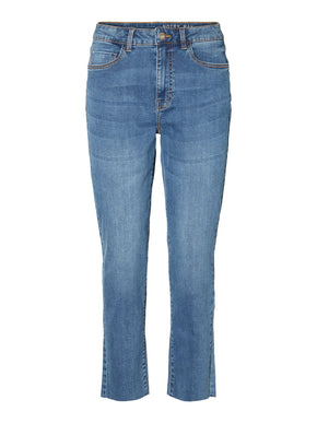 LIZZIE HIGH WAIST STRAIGHT FIT ANKLE JEANS