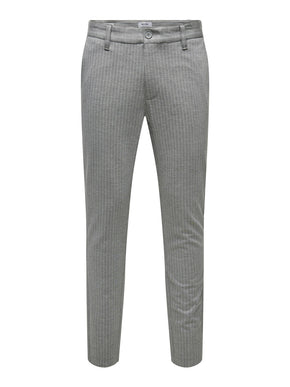 STRETCHY PINSTRIPE PANTS